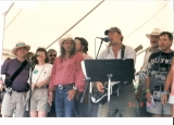 Singing with Bruce at Clearwater 2001